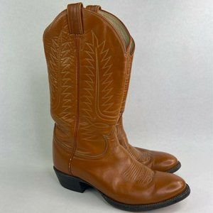 Tony Lama Mens Cowboy Western Boots Brown Pull On